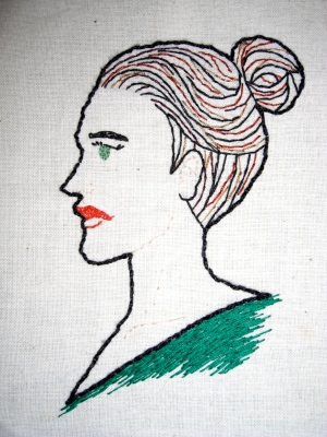 Embroidered Lady 2