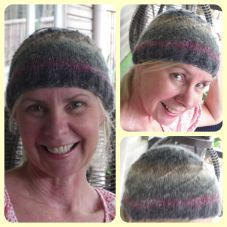 Judy's hat, made from Noro Kochoran